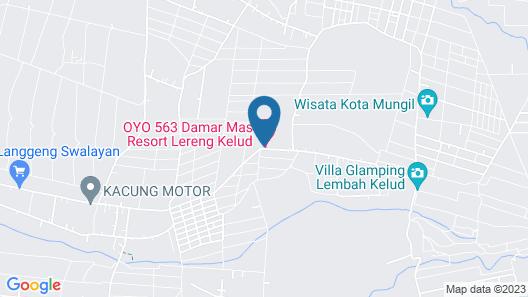 OYO 563 Damar Mas  Resort Lereng Kelud Map