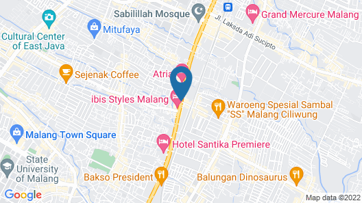 Ibis Styles Malang Map
