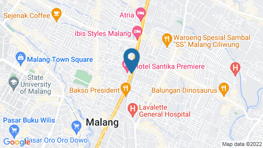 Hotel Santika Premiere Malang Map
