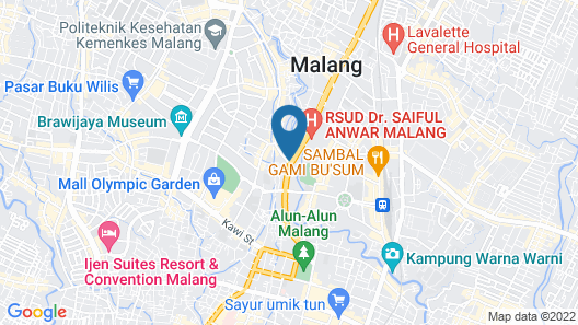 Hotel Trio Indah 2 Malang Map