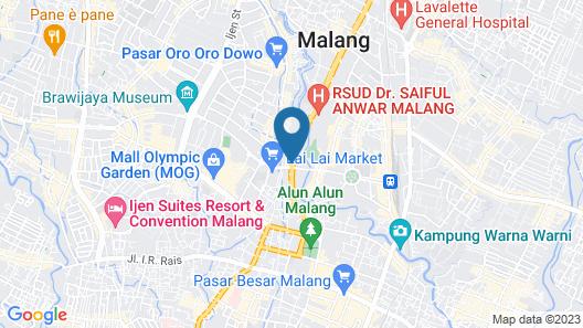 Whiz Prime Hotel Basuki Rahmat Malang Map
