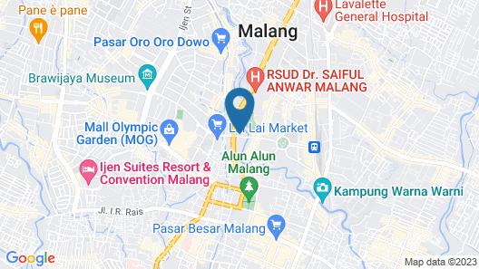 RedDoorz Hostel near Malang Train Station 3 Map