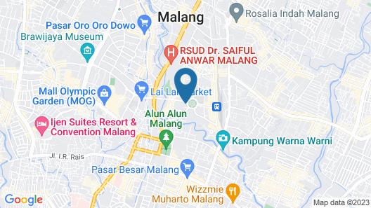 Hotel Tugu Malang Map