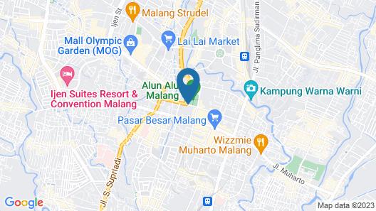 Hotel Pelangi Malang Map