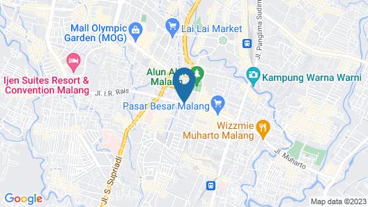 The Grand Palace Hotel Malang Map