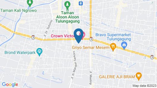 Crown Victoria Hotel Map