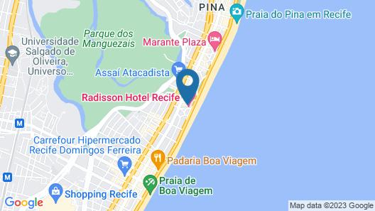 Radisson Hotel Recife Map