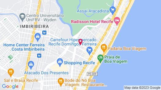Bristol Recife Hotel & Convention Map