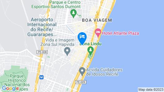 PM306 Excellent flat 5 people Boa Viagem Map