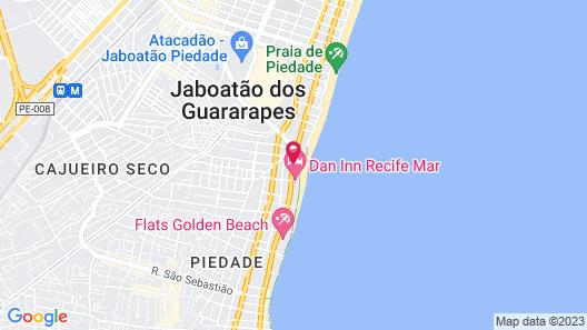 Costa Mar Recife Hotel by Atlantica Map