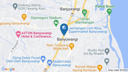 Kokoon Hotel Banyuwangi Map