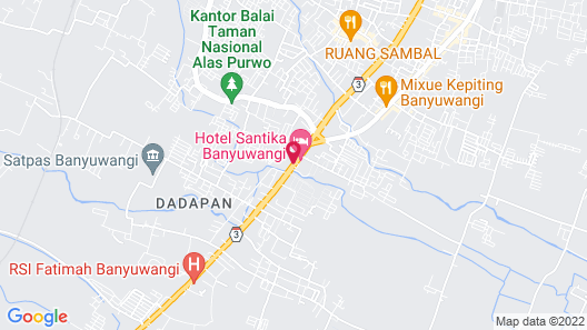 Santika Banyuwangi Map