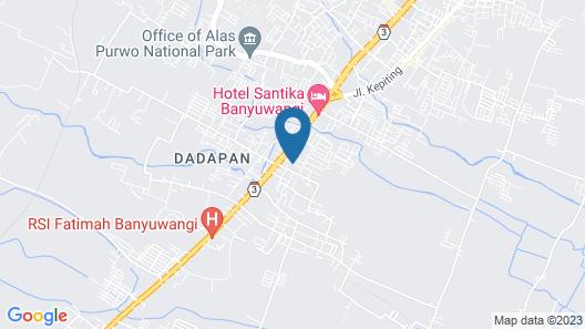 Gandrung City Hostel Map