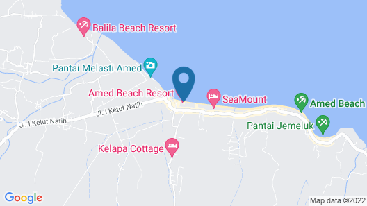 Amed Sari Beach Guesthouse Map