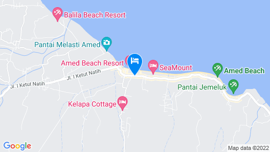 Hotel Uyah Amed & Spa Resort Map