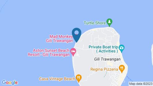 Mad Monkey Gili Trawangan - Hostel Map