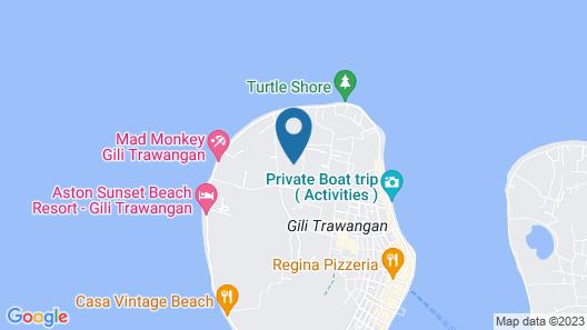 Gili Luxury Villa Map