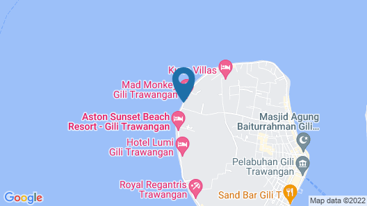 Villa Gili Bali Beach Map