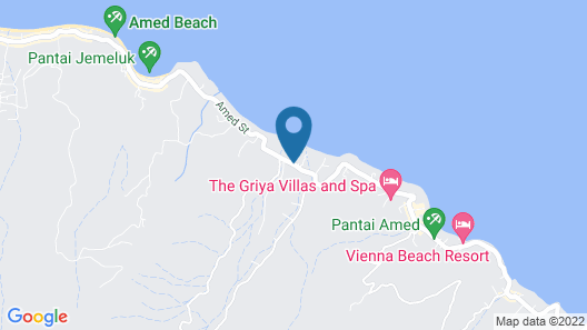 Amed Harmony Cafe and Bungalows Map