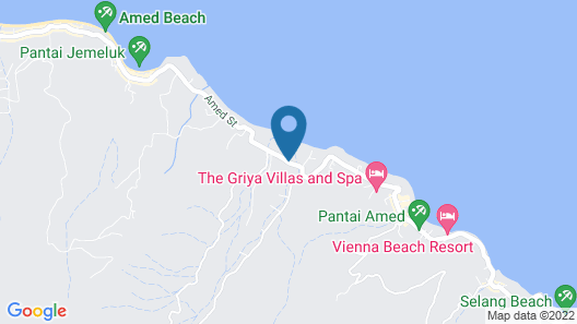Arya Amed Beach Resort and Dive Center Map