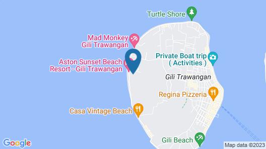 Aston Sunset Beach Resort - Gili Trawangan Map
