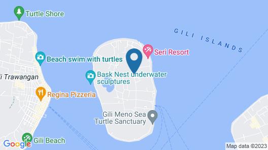 Les Villas Ottalia Gili Meno Map