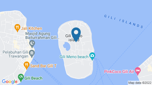The This-Kon Gili Meno Map