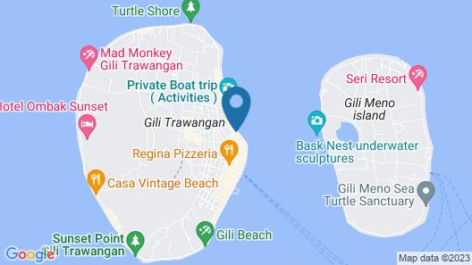 Trawangan Dive Map