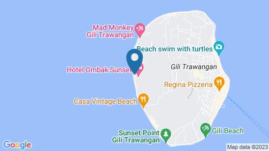 Hotel Ombak Sunset Map