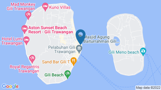 Warna Beach Hotel Map
