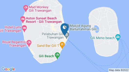 OYO 732 James Bungalow Gili Trawangan Map