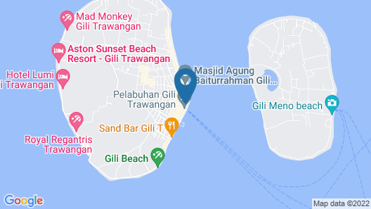 OYO 1425 Beach Wind Bungalows Map