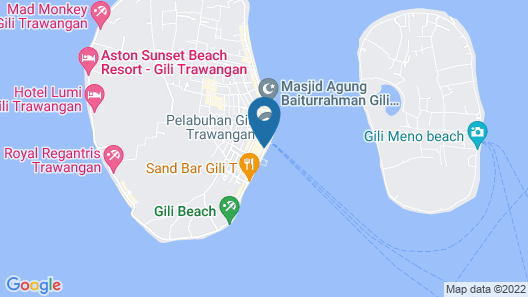OYO 1373 Chili Gili Map