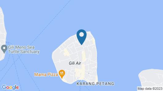 Anahata - Tropical Private Villas Gili Air Map