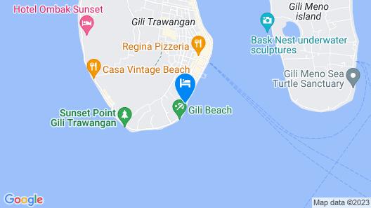 Vila Ombak Hotel Map