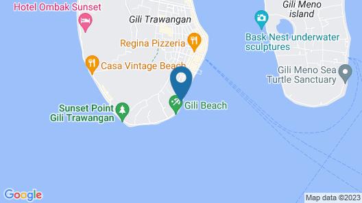 Kokomo Resort Gili Trawangan Map