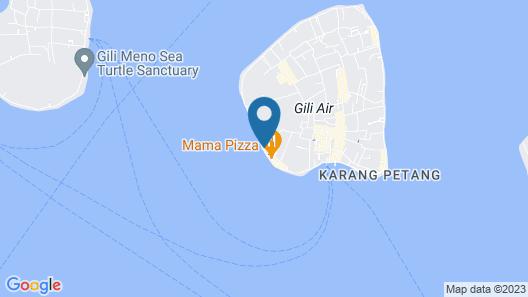 Gili Lumbung Bungalow Map