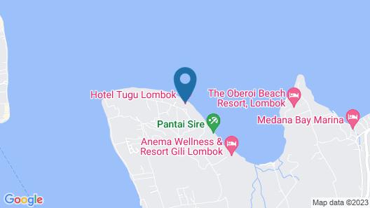 Hotel Tugu Lombok Map