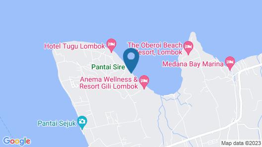 Beach Villas Lombok Map