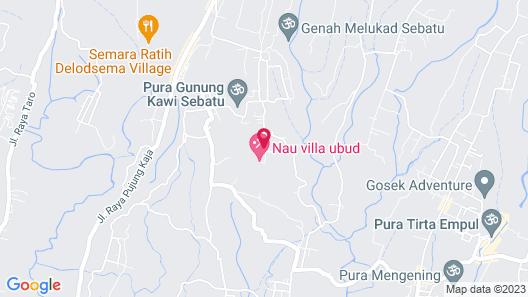 Nau Villa Ubud Map
