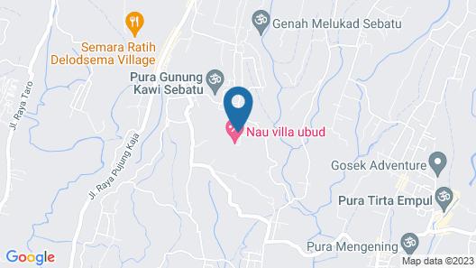 Pondok Sebatu Villa Map