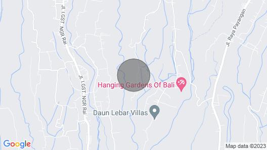 Luxury 4 Bedroom Villa in North Ubud; Map