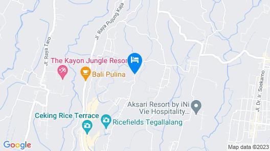 ZEN Rooms Kedisan Tegal Alang Ubud Villa Map