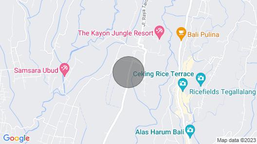 Nice hideaway inmidst of rice fields in Ubud Map