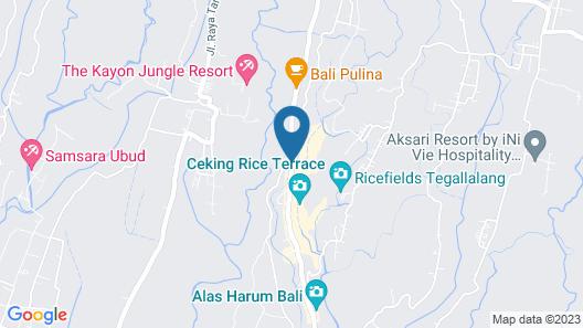 Barong Bali Villas Map