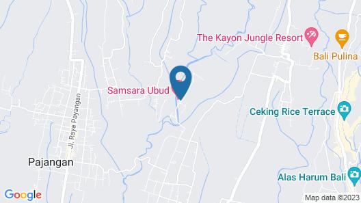 Samsara Ubud Map