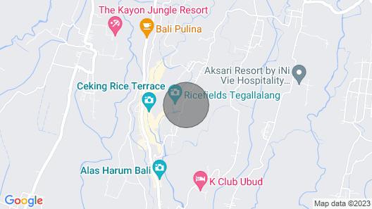 Villa Kalisha - Romantic Honeymoon or Family Getaway in Ubud Map