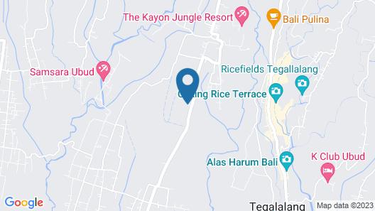 Padi Bali Eco Villas Map