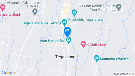 The Kampung Resort Ubud Map