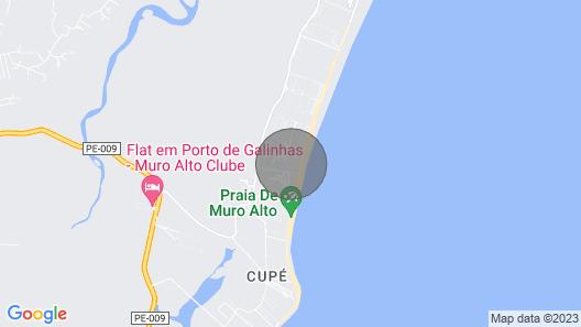 Bangalô Premium Malawi Beach House Piscina Privativa Muro Alto Porto de Galinhas Map